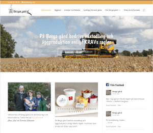 Webbsida för Berga gård