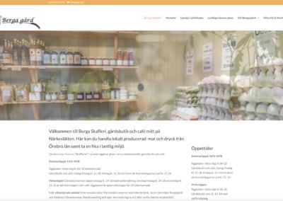 Webbsida för Berga gård 2021