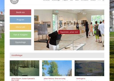 Webbsida för Rackstadmuseet Arvika