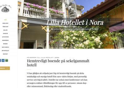 Ny webbsida och foto för Lilla Hotellet Nora