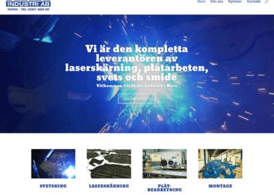 Webbsida och foto för Frabe Industri AB