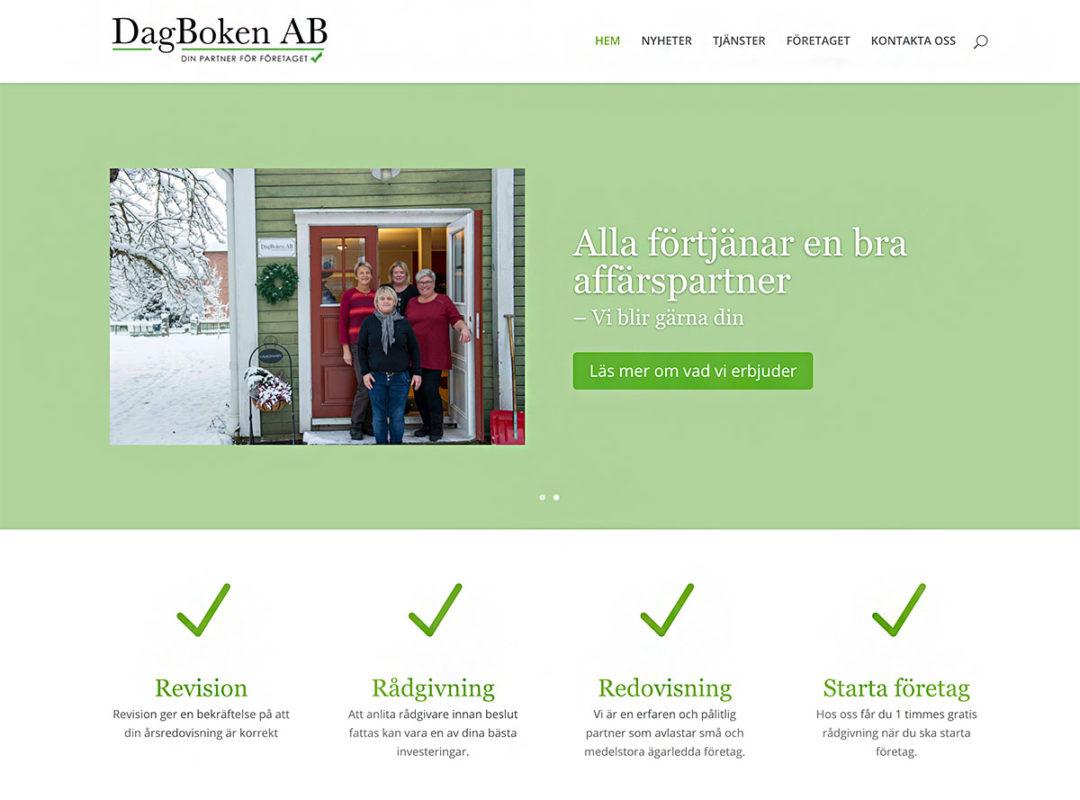 Webbsida och foto för Dagboken AB