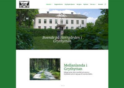 Ny webbsida för Herrgården i Grythyttan