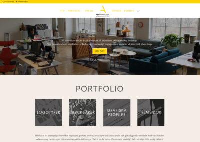 Ny webbsida för ARNTELL reklam och kommunikation, One Page