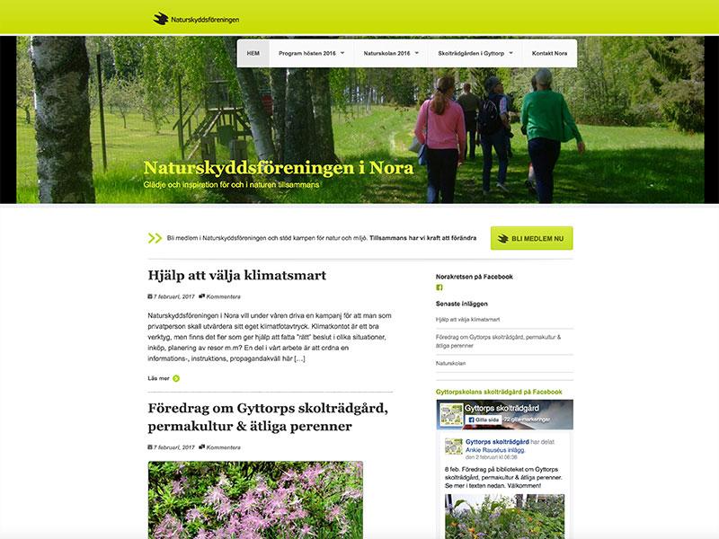 Stolt webbansvarig för Naturskyddsföreningen i Nora