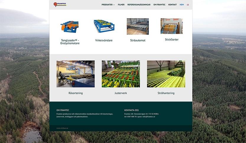 Ny webbsida för Framtec AB