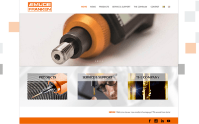 Webbsidan för Emuge-Franken AB är sjösatt