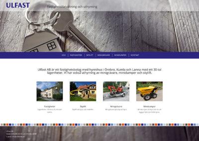 Ny webbsida för Ulfast AB