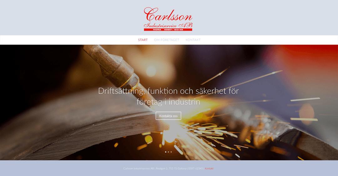 Ny webbsida för Carlsson Industriservice AB