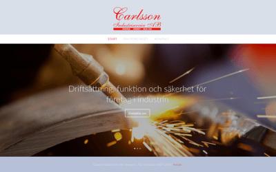 Sjösättning av ny webbsida för Carlsson Industriservice
