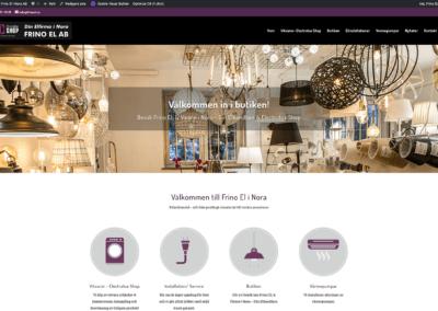 Ny webbsida för Frino EL i Nora