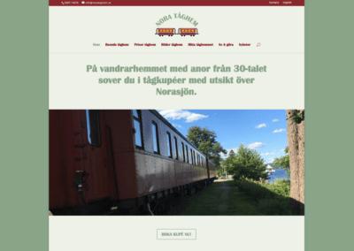 Ny webbsida för Nora tåghem