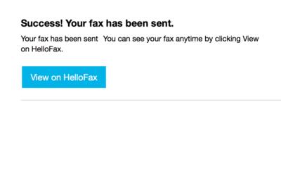 Skickade ett fax idag
