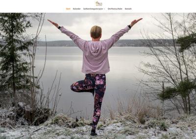 Webbsida och foto för Yoga
