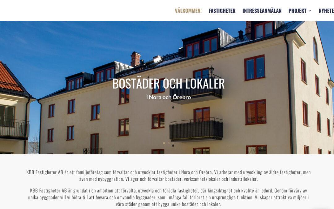 Webbsida och foto för KBB Fastigheter