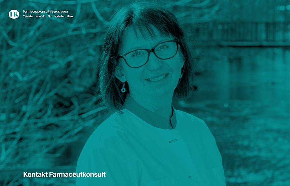 Webbsida för Farmaceutkonsult i Bergslagen