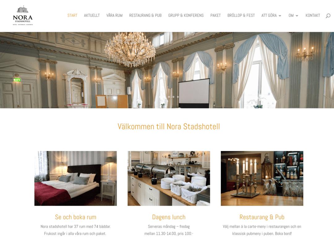 Ny webbsida för Nora stadshotell