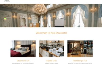 Ny webbsida – Nora stadshotell