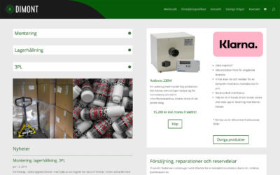 Dimont webbsida och webbutik är sjösatt