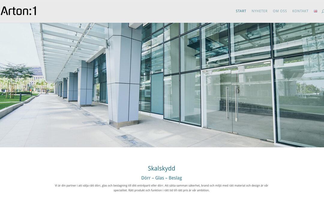 Webbsida för projekt Arton:1