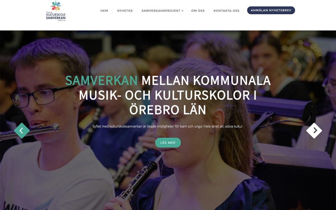 Webbsida för Kulturskolesamverkan i Örebro län