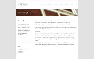 Webbsida för CE-marking Nordic