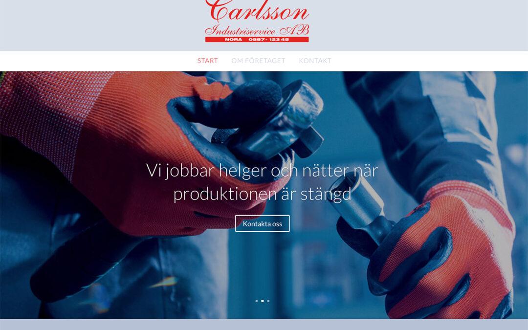 Webbsida industriföretag