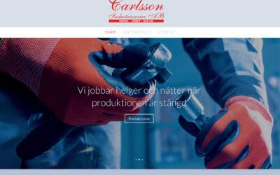 Webbsida för industrin