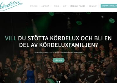 Webbsida för sångkör