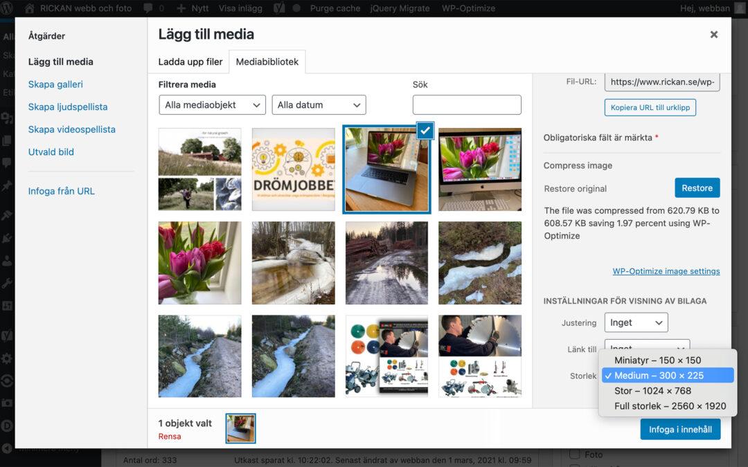 Bättre bilder i WordPress