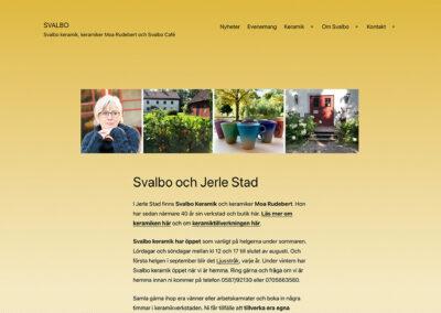 Ny webbsida för Svalbo keramik