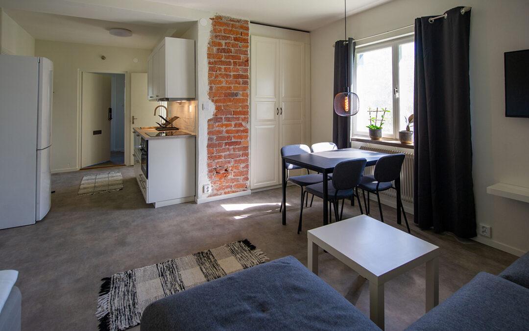 Folder & foto av möblerade lägenheter att hyra